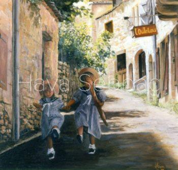 Care Free - Oil on Canvas Painting - Hava Sebbag Fine Art