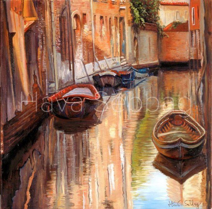 Couleures de Venise - Oil on Canvas Painting - Hava Sebbag Fine Art