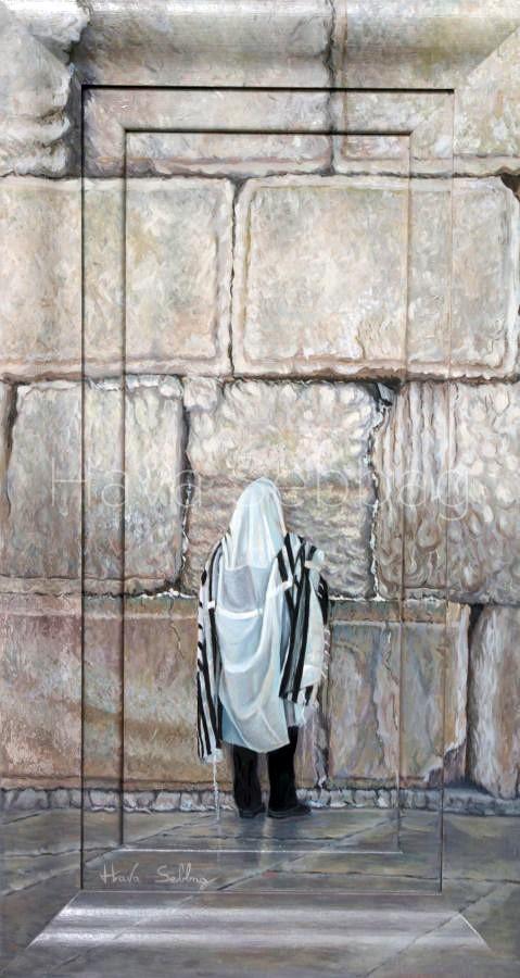 One More Prayer - Oil on Wood Panel Painting - Hava Sebbag Fine Art