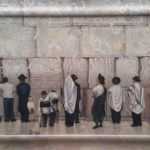 At The Kotel - Judaica Oil on Wood Panel Painting - Hava Sebbag Fine Art