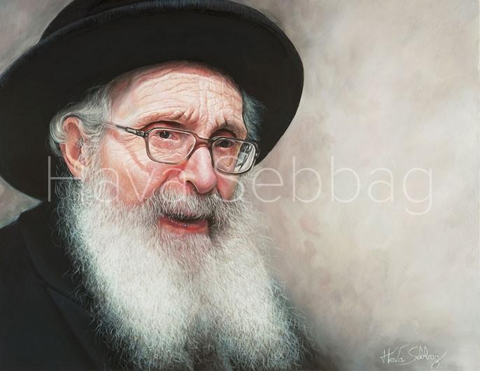 Rav Nosson Tzvi Finkel Ztl – Judaica Painting – Hava Sebbag Fine Art