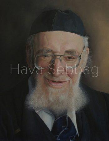 Rabbi Beck Ztl - Oil on Wood Panel Painting - Hava Sebbag Fine Art
