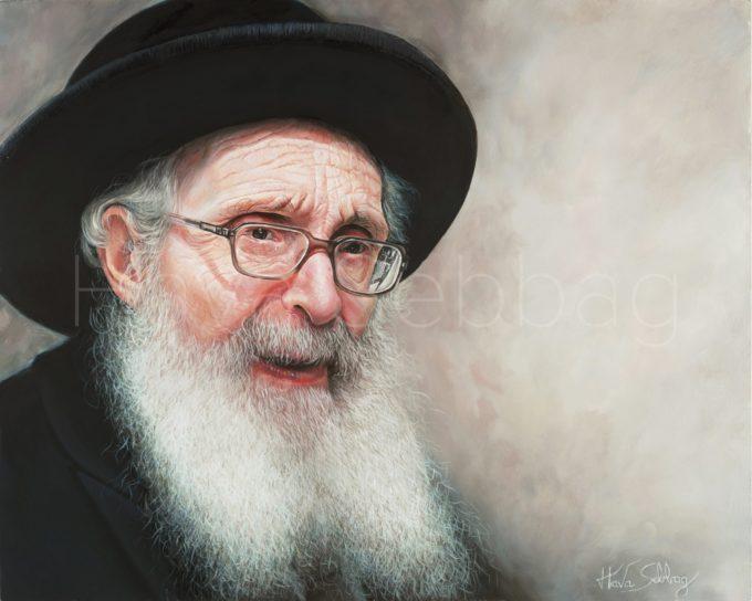 Rav Nosson Tzvi Finkel Ztl - Judaica Painting - Hava Sebbag Fine Art